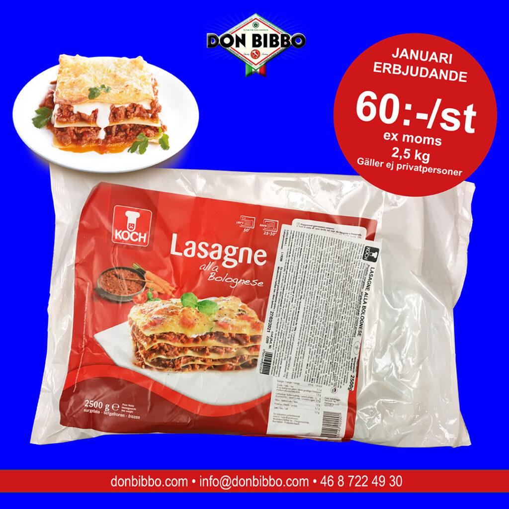 Erbjudande djupfryst lasagne