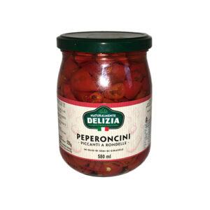 Peperoncini (chili) skivad 580ml